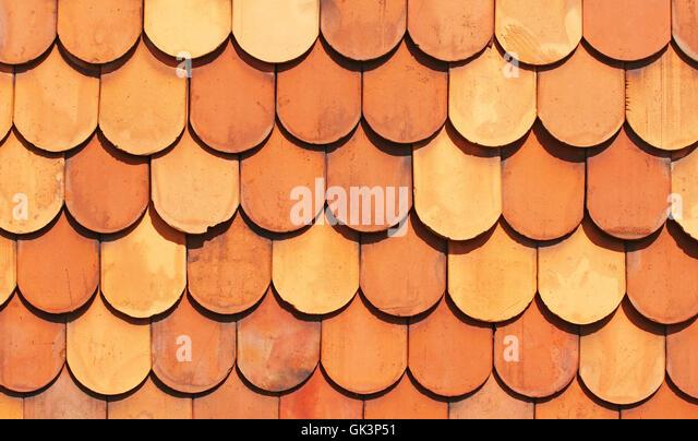 old terracotta roof tiles terracotta tile stock image