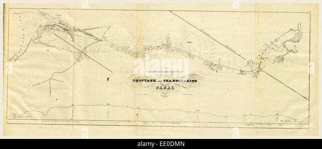 Choptank And Transquaking C Report On The New Map Of Maryland 1836 19th