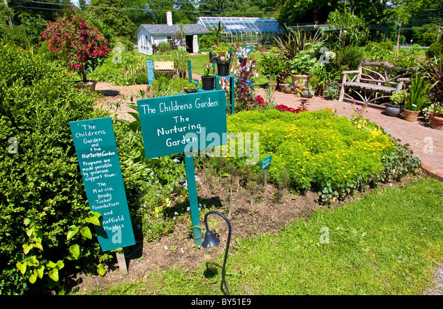 Attrayant Garden At The Berkshire Botanical Garden   Stock Image