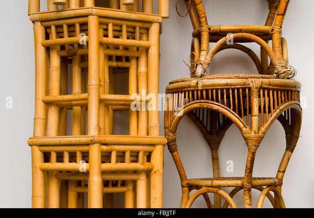 Bamboo Furniture, Lan Su Chinese Garden, Portland, Oregon   Stock Image