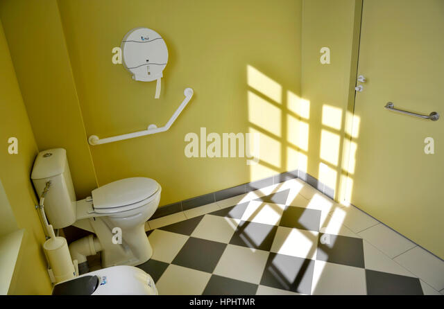 Toilets Equipped For Disabled Person In A Public Building.   Stock Image