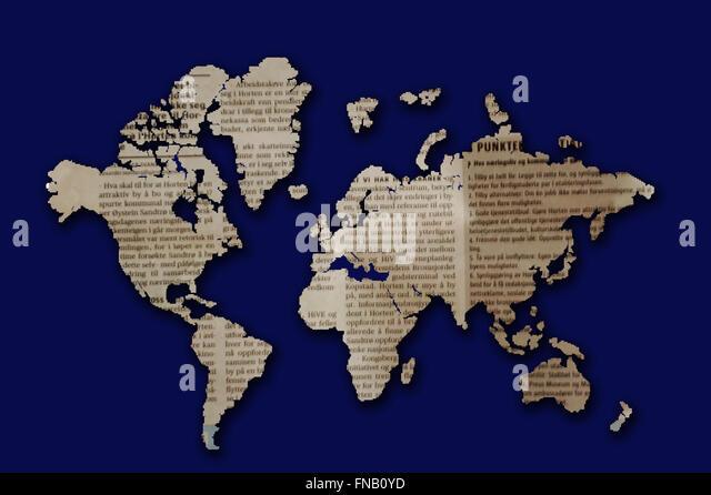 Artistic World Map Stock Photos Artistic World Map Stock Images - Artistic world map