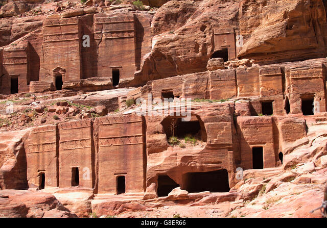 Petra archaeological park stock photos