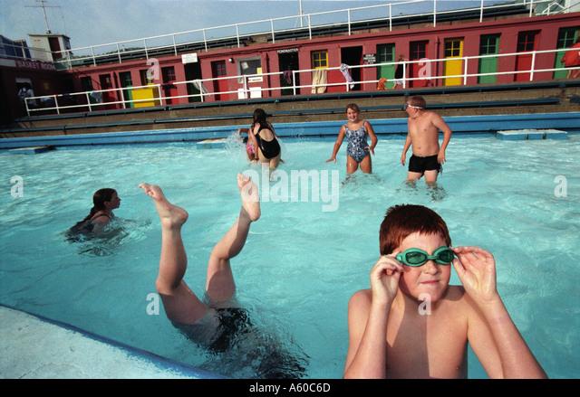 North Berwick Outdoor Swimming Pool Stock Photos North Berwick Outdoor Swimming Pool Stock