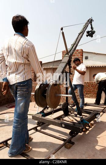 Used Jimmy Jib Crane : Bollywood mumbai stock photos