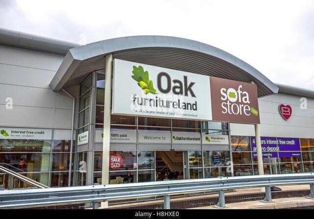 Great An Oak Furnitureland Store   Stock Image