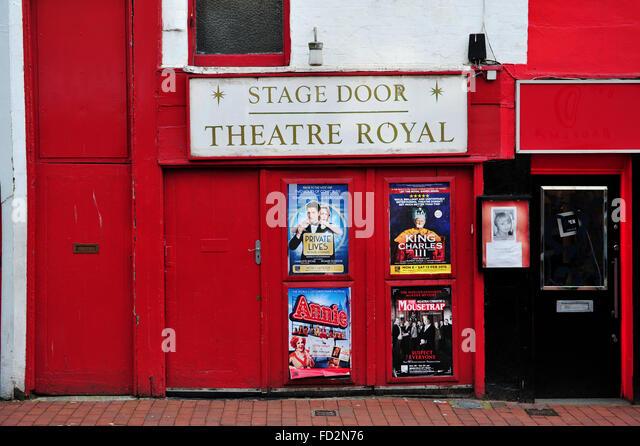 Brighton Theatre Royal Stage Door entrance in Bond Street - Stock Image & Theatre Entrance Doors Door Stock Photos u0026 Theatre Entrance Doors ... pezcame.com