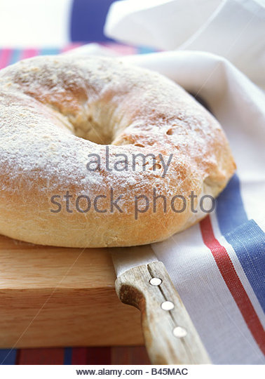 Filled Easter bread ring - Stock Image