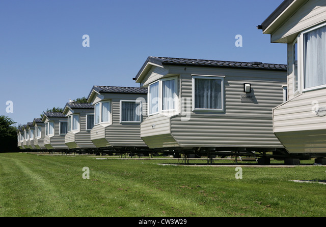 Mobile Homes Static Caravans At Henfra Holiday Park Newquay Uk July 2012
