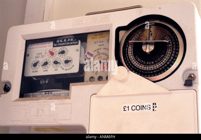Electricity Coin Meter : Charge meter stock photos images alamy