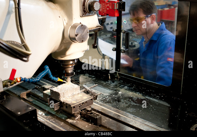 Engineering Technician Engineer Working Cnc Stock Photos ...
