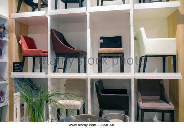 Miami Florida Shops At Midtown Miami West Elm Furniture Store Chairs For  Sale Retail Display