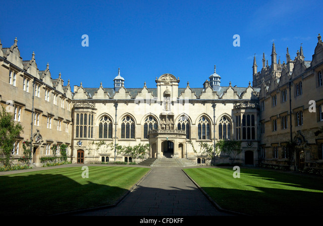 Front Foyer University : Oriel college uk oxford stock photos