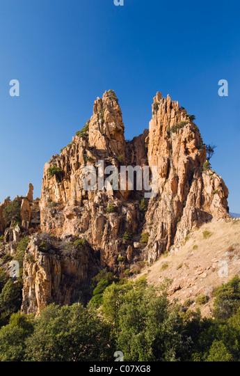 Rocky landscape of Corsica