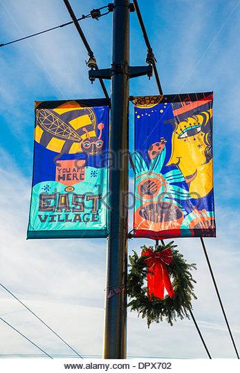 Lamp Post Banner Stock Photos Amp Lamp Post Banner Stock