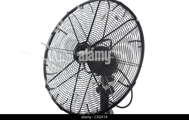 Great Retro Classic Table Fan Close Up   Stock Image
