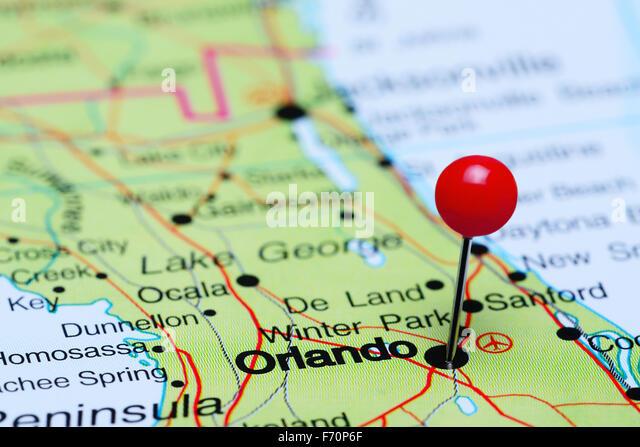 Orlando Map Stock Photos Orlando Map Stock Images Alamy