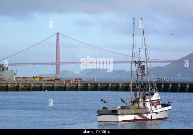 Golden gate bridge fishing stock photos golden gate for San francisco fishing
