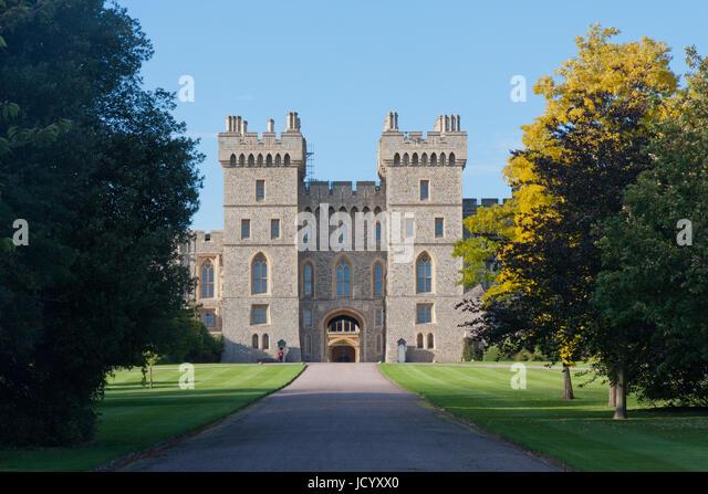 Windsor Castle Entrance From Great Park Berkshire England United Kingdom