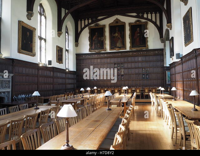 Oxford University Magdalen College Dining Hall