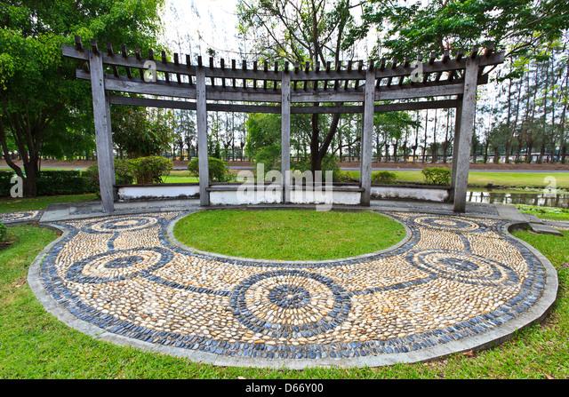 Stone Zen Garden Circle Stock Photos Stone Zen Garden