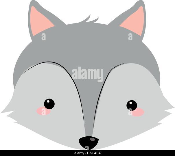 Cute cartoon fox face - photo#53