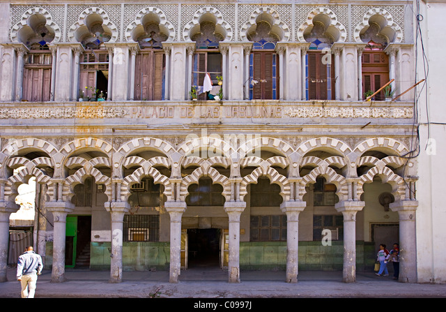 Palace Of The Lasulinas In Traditional Spanish Moorish Architectural Facade