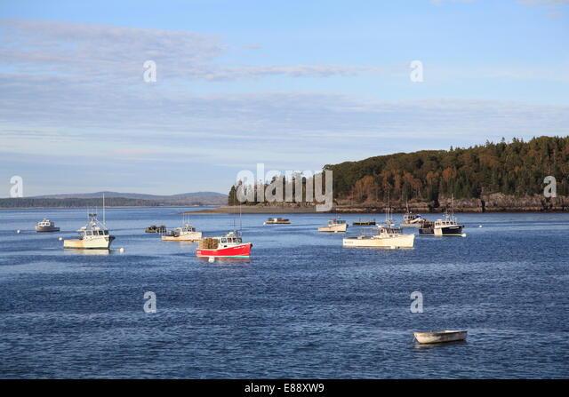 Maine coast bar harbor stock photos maine coast bar for Desert island fishing