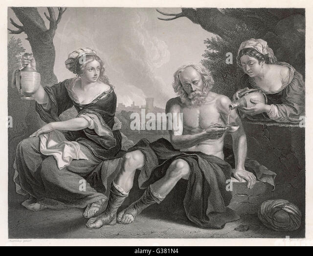 Lot and his two daughters bible genesis 19 3