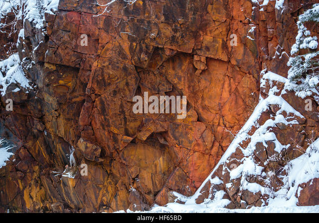 Wisconsin Red Granite Stone : Wausau stock photos images alamy