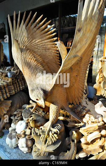 South east asia wood carvings stock photos