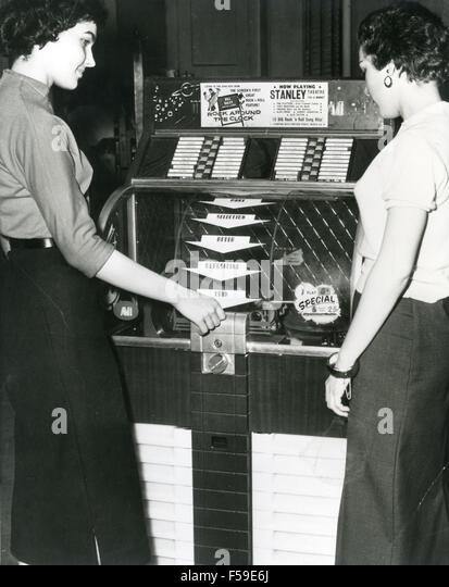 Black dress 1950s jukebox
