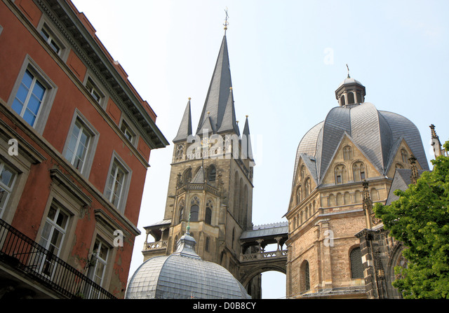 cathedral in aachen germany europe stock image aix la chapelle cathedral