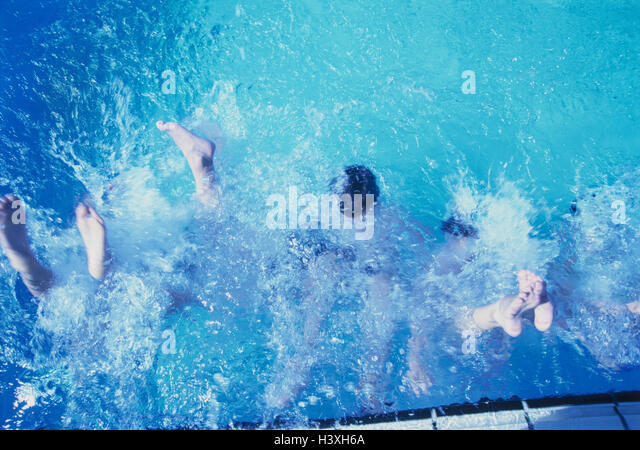 Pool Water Splash children splash pool stock photos & children splash pool stock