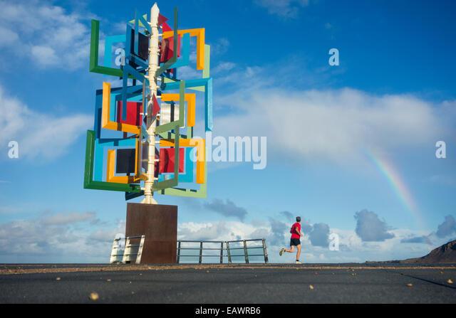 Wind sculpture cesar manrique lanzarote stock photos - Gran canaria weather november ...