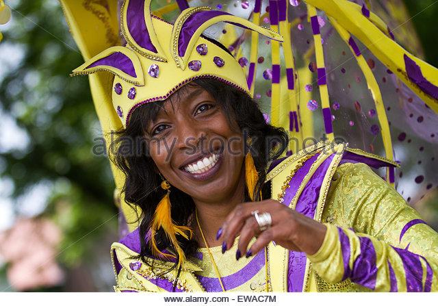 London Caribbean Carnival Painted Blue