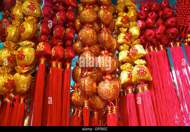Chinese New Year Decorations, Hong Kong, China, South East Asia,   Stock
