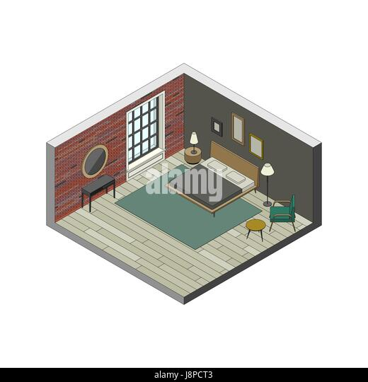 3d Floor Plan Isometric: 3d Apartment Floor Plan Stock Photos & 3d Apartment Floor