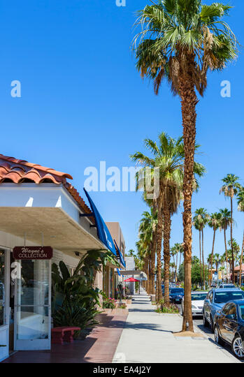 Palm springs california downtown stock photos palm for Shopping in palm springs ca