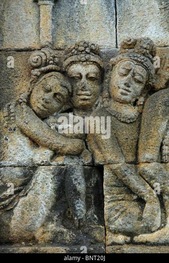Borobudur temple vertical stock photos
