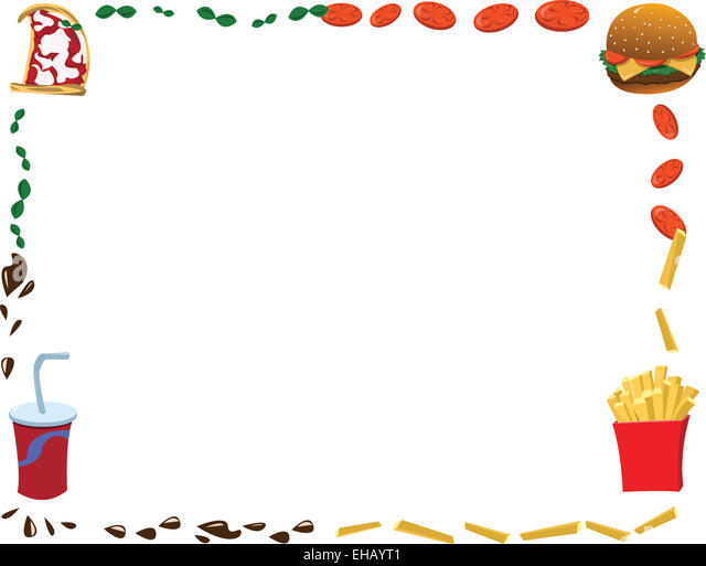 Fast Food Set Menu Yellow Gradient Background Fast Food: Cartoon Tomato Stock Photos & Cartoon Tomato Stock Images