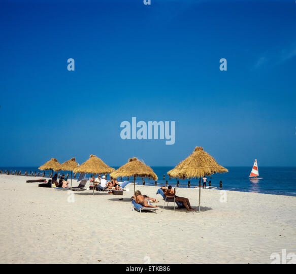 Gambia Beach Tourists Stock Photos & Gambia Beach Tourists