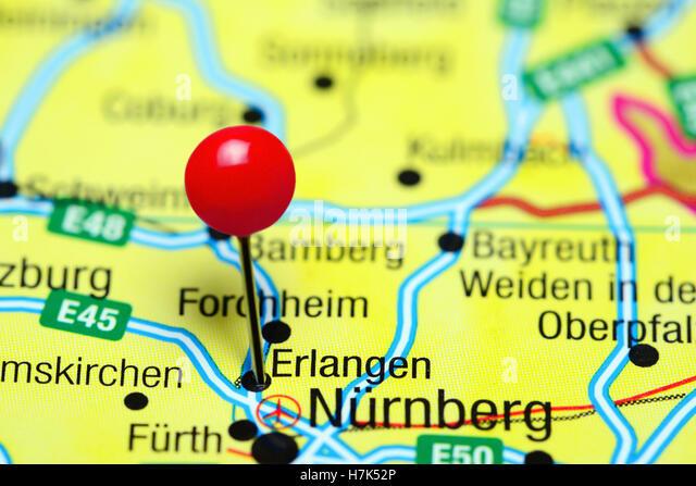 Erlangen Stock Photos Erlangen Stock Images Alamy - Erlangen map