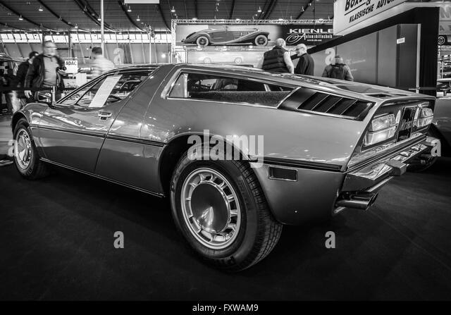 Lovely Sports Car Maserati Bora 4,9, 1973. Stock Image