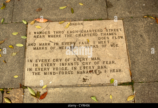 william blakes poem london William blake was born on 28 november 1757 at 28 broad street (now broadwick st) in soho, londonhe was the third of seven children, two of whom died in infancy blake's father, james, was a hosier.