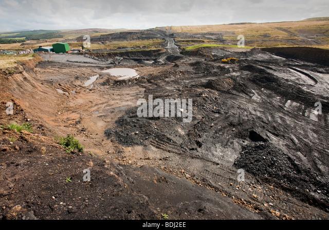 open cast coal mine scotland stockfotos und open cast coal mine,
