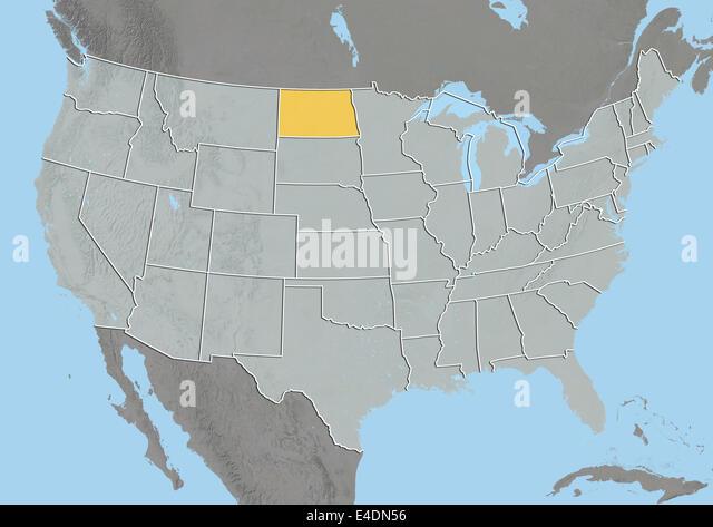 Map Of North Dakota Stock Photos Map Of North Dakota Stock - Us map north dakota