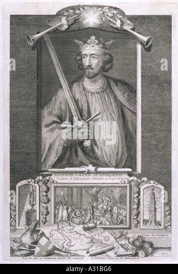 Edward i king of england stock photos edward i king of for Oneil s bains md