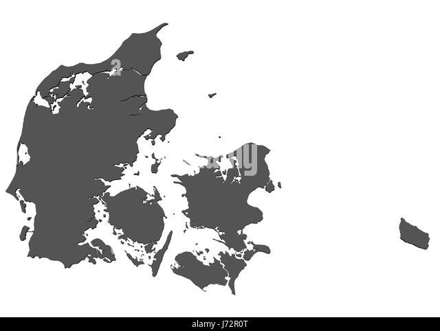 europe denmark card copenhagen European Union joining atlas map of the world - Stock Image