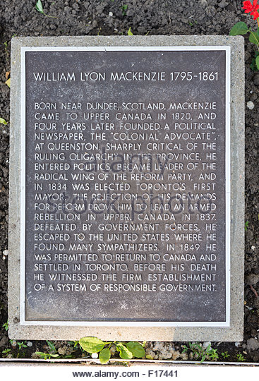 an introduction to the life of william lyon mackenzie Introductory essays of the dcb/dbc  william lyon mackenzie's career can only  be understood if the man and the legend are separated virtually all  examinations of his life have concentrated on his political activities from 1824 to  1838, and.